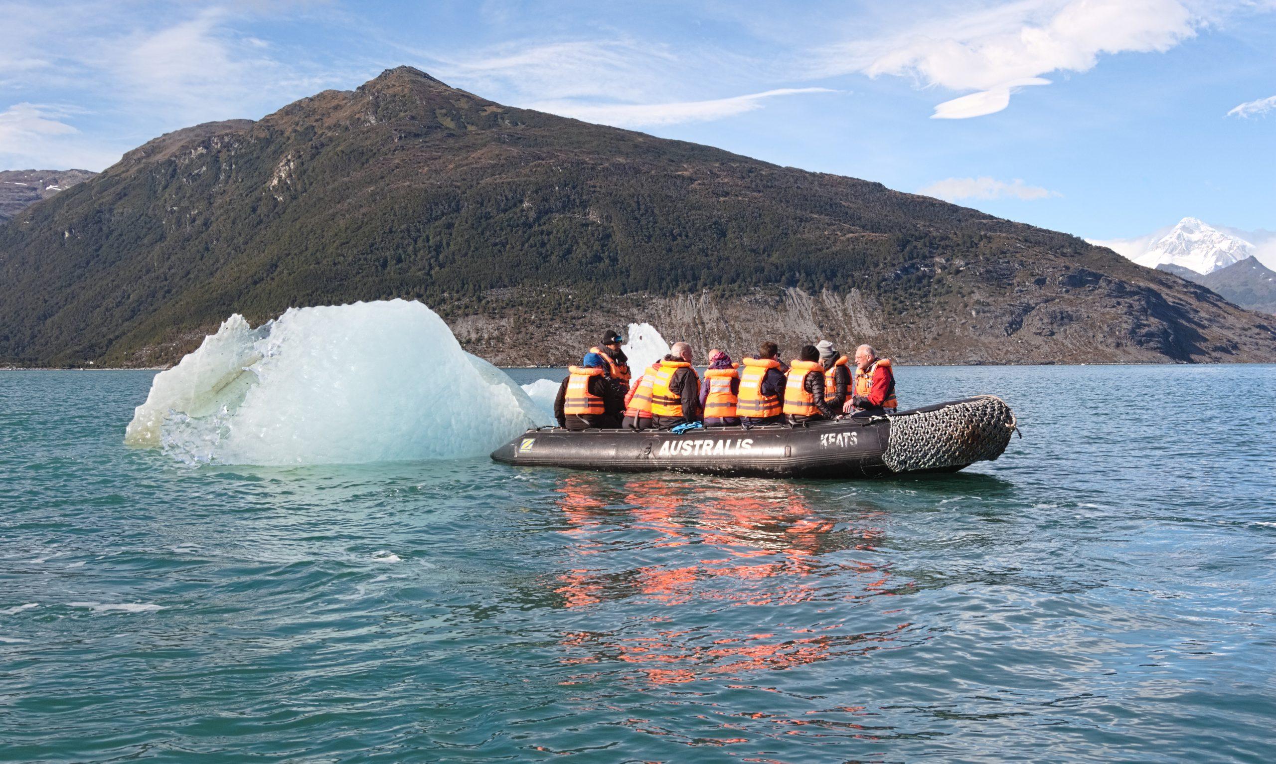 Expeditionsfahrt mit der Australis: Ausflug zum Pia-Gletscher